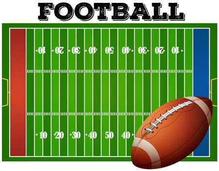 campo calcio: Gioco del calcio sul campo di calcio con sms Vettoriali
