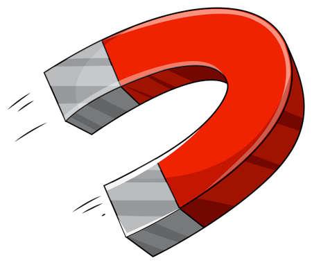 北と南の極の U 字型の磁石  イラスト・ベクター素材