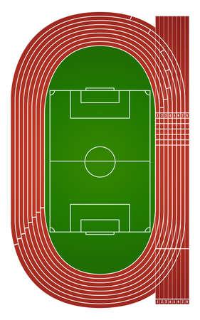 Atletiek gebied illustratie Vector Illustratie