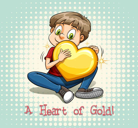 characteristic: English idiom saying a heart of gold