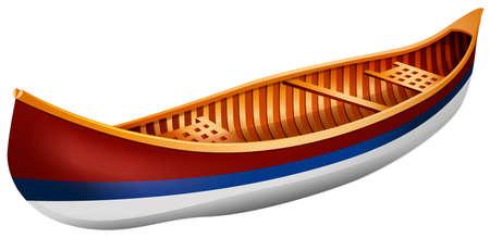 rowboat: Canoa de madera en dise�o simple Vectores