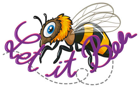 texting: Little bee flying with texting