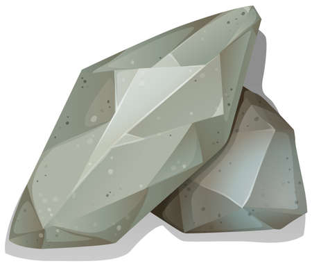 rock stone: Pile of rocks on white illustration