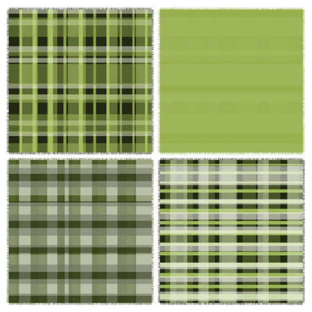 scot: Four different of green patches Illustration
