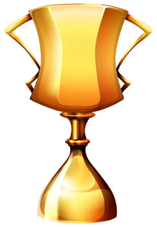 Goldene Trophäe auf weiß Abbildung