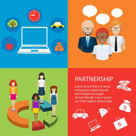 series: Series of infographics for social media illustration