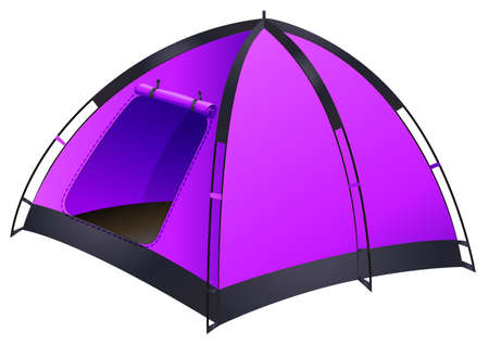 hobby hut: Purple tent with simple design