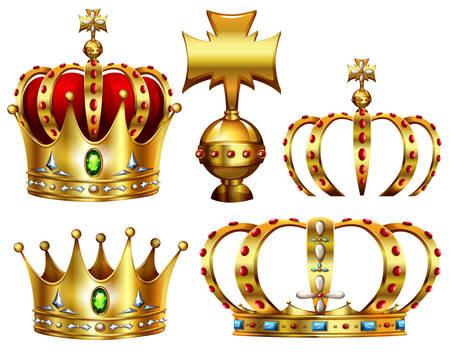 Couronnes d'or avec des conceptions différentes