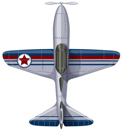 jet plane: Vintage design of jet plane illustration Illustration