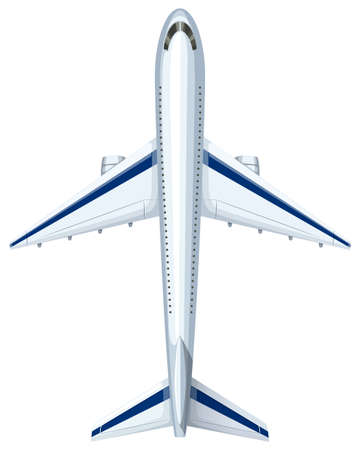 above: Modern design of aeroplane illustration