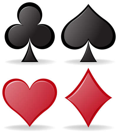 picture card: Simple design of poker symbols illustration