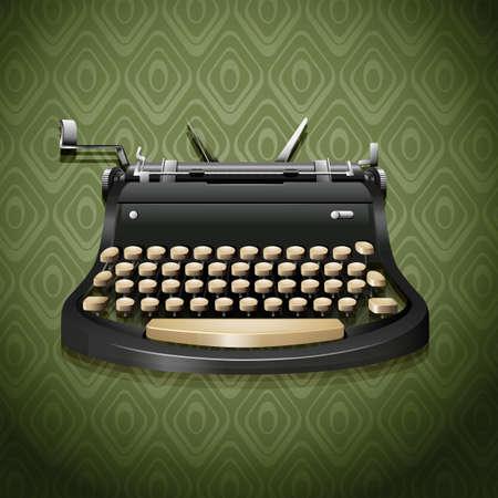typing machine: Vintage design of typewriter illustration