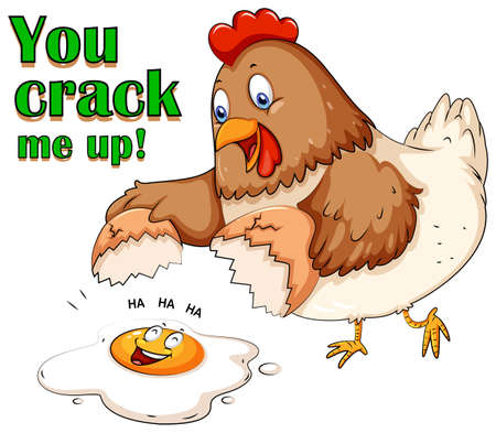 crack up: You crack me up illustration