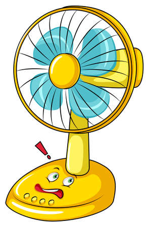 electronic: Electronic fan with face illustration Illustration