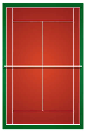 Top view of tennis court illustration