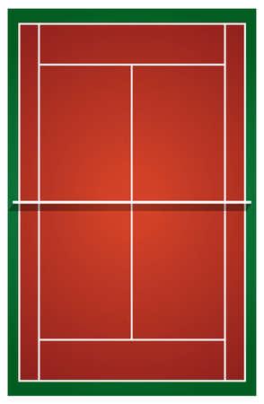 Vista superior de ilustración pista de tenis