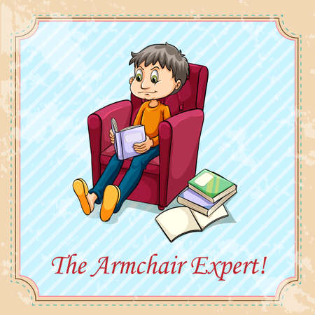 idiom: Idiom the armchair expert illustration