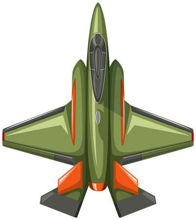 top down: Modern design of jet plane illustration