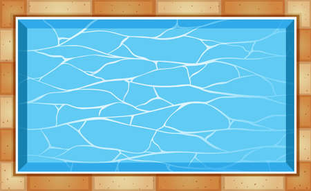 Top view of swimming pool illustration Illustration
