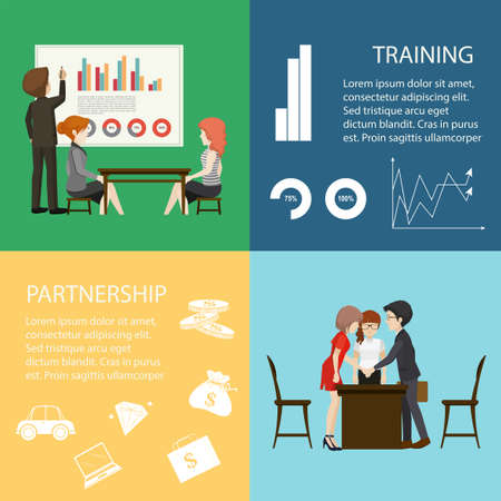 illustration people: Infographic with business people illustration