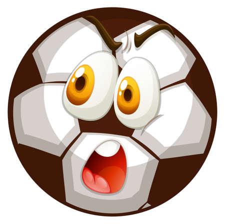 funn: Facial expression on football illustration