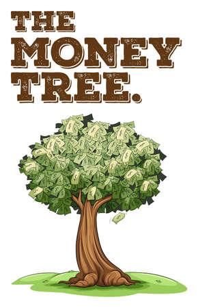 signos de pesos: El dinero crece en la ilustración del árbol Vectores