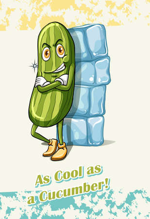 figurative: As cool as a cucumber illustration