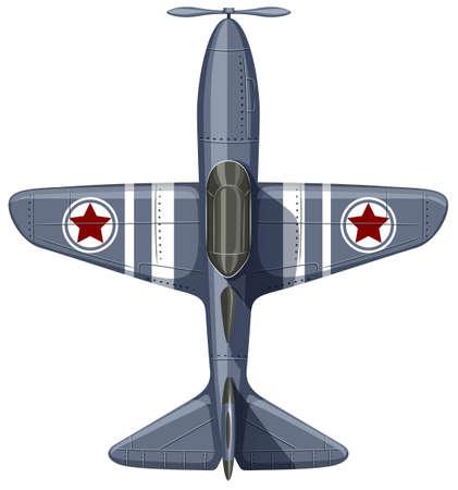 aeroplanes: War plane on white illustration Illustration