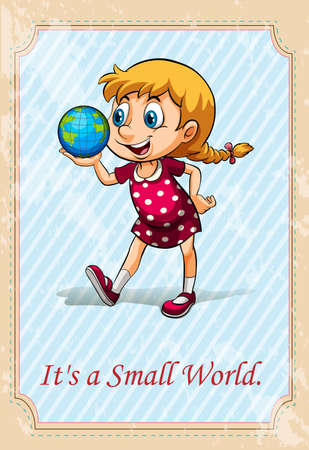 small world: It is a small world illustration