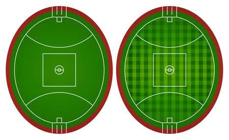 campo di calcio: Australian Rules campi da calcio illustrazione