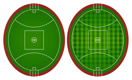 aussie: Australian rules football fields illustration Illustration