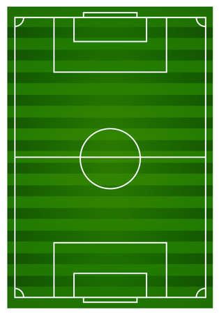 football field: Football field with green lawn illustration
