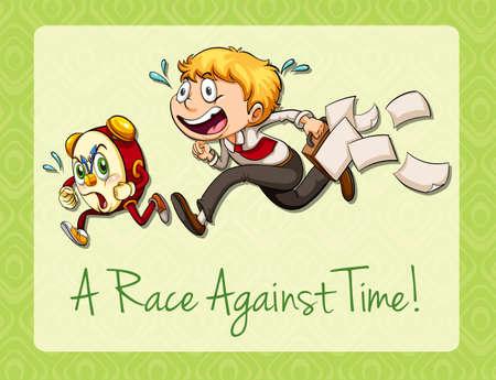 idiom: Idiom race against time illustration