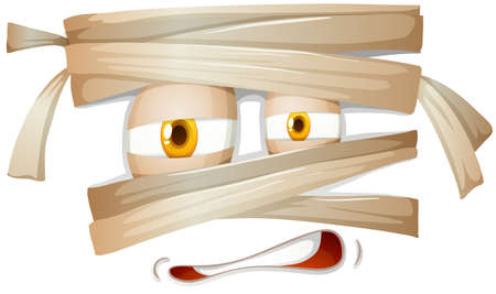 bandages: Mummy emojicon facial expression illustration Illustration