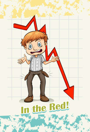 figurative art: Idiom in the red illustration Illustration