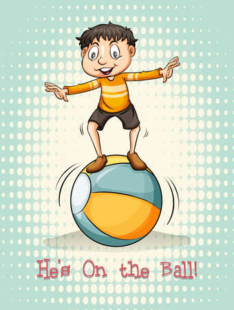 hes: Hes on the ball illustration