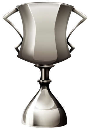 stainless: Trophy made of silver illustration Illustration