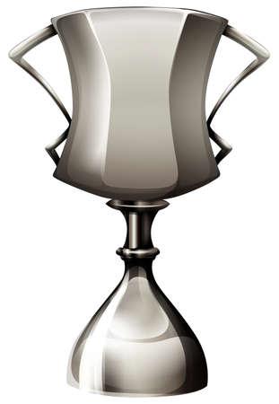 metalic design: Trophy made of silver illustration Illustration