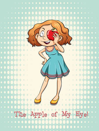funny pictures: Apple of my eye illustration