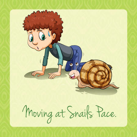 rythme: D�m�nagement au escargots rythme illustration Illustration
