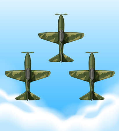 wars: Planes flying in the sky illustration