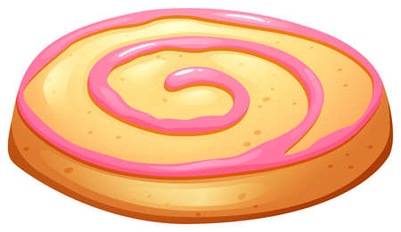 frosting: Cookie with pink frosting illustration