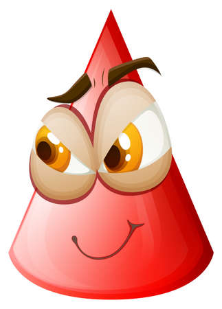 forme geometrique: visage Tricky sur le cône illustration