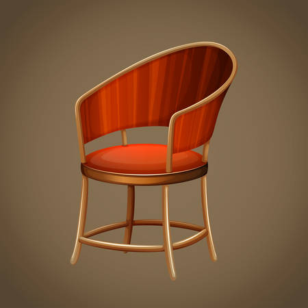 wooden chair: Classic design of wooden chair illustration Illustration