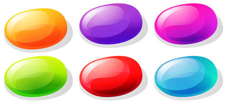 jelly: Jelly beans in many colors illustration Illustration