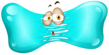 Sad face on jelly illustration