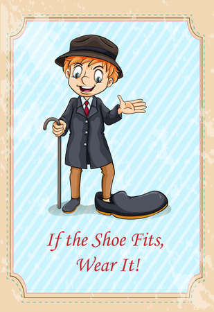 funny pictures: If the shoe fits, wear it illustration