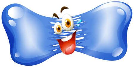 jelly: Happy face on jelly illustration Illustration
