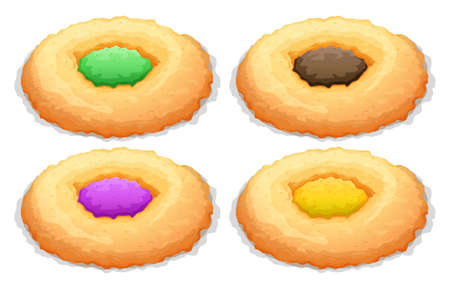 frosting: Cookies with color frosting illustration