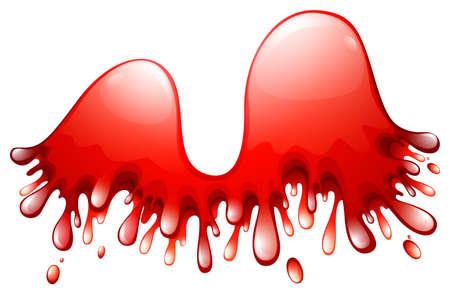 shinning: Red splashes on white background illustration Illustration